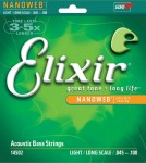 Elixir Nanoweb 4 string Acoustic Bass, Long Scale, 45-100