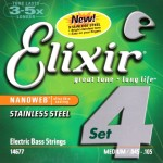 Elixir Nanoweb Electric 4str Bass, Steel, Long Scale 45-105